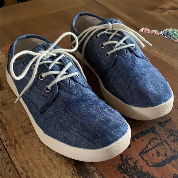 TOMS Shoes - TOMS denim, lace up shoe, 7